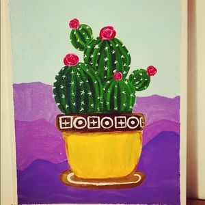 Other - Acrylics cactus painting,